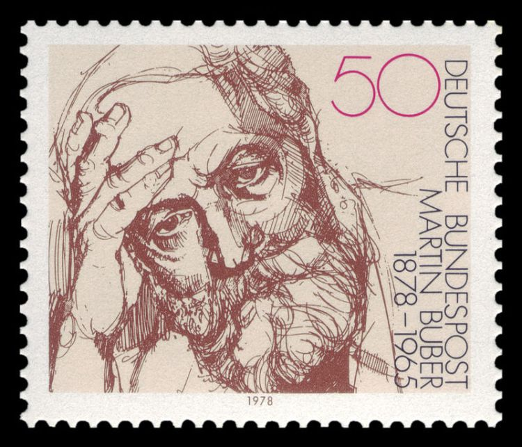 German stamp celebrating the 100th anniversary of the birth of Martin Buber, 1978